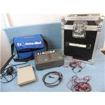 Astro-med Astro-Daq2 Data Acquision Unit W/ Hard Travel Case And Soft Case