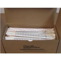 (100) VWR 53283-740 Disposable Serological Sterile/Plugged Pipet 10 x 1/10 mL