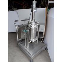 ASC Alpha Bio Reactor / Stirrer Stainless Steel W/ Scott TurbonMixer And Cart