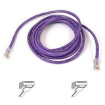 Belkin A3L791-50-PUR-S Cat5E Snagless Purple 50' Patch Cable RJ45M/RJ45M