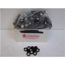 **1 Case** Wheaton 240216/20-400 Black Plastic Cap w/Rubber Liner (500 pcs)