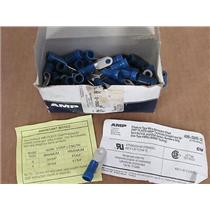 **Box of 60** AMP  52042-3  Terminal, Ring tongue, 1/4 in, Crimp Blue