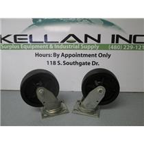 (2) Colson 4.06109.339 (SS Series 4)-Top Plate Swivel Casters 1400lb Capacity