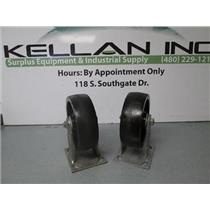"Set of 2  Colson 4-5 Ser 6"" Heavy Duty Casters 6"" x 2""  600lb Capacity (Rigid)"