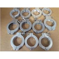 **Lot of 11** Various Brands ISO NW50 Wing Nut Hinge Clamps, Aluminum & ST/ST