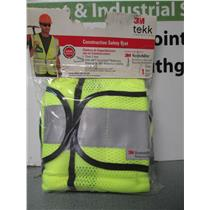 3M 94617 One Size Polyester Yellow Class 2 Construction Safety Vest.