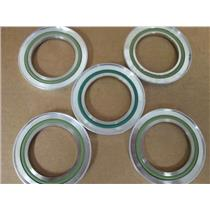 **Lot of 5** Edwards  C10517490  NW 50 Trapped O-Ring w/Viton, Fluoroelastomer
