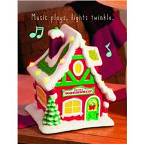 Hallmark 2012 North Pole Village #1 Santa's Workshop Tabletop Decoration XKT1056