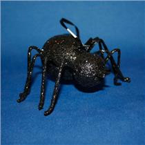 Hallmark Direct Imports Ornament 2012 Large Black Glitter Spider - #DIR3431