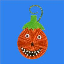 Hallmark 2006 Jack-o'-Lantern Pumpkin - Beaded Halloween Ornament - #HWN2043