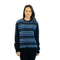 Size M Penguin by Munsingwear Multi Colored Fair Isle Sweater w/Black Sleeves
