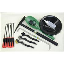 """Gold Rush Christmas Special"" 17 Pc Crevice Tool & Black Gold Panning-Mining Kit"