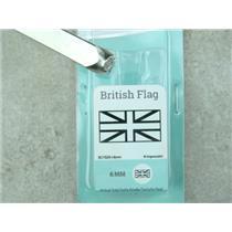 """""""British Flag"""" 1/4""""-6mm-Large Stamp-Metal-Hardened Steel-Gold & Silver Bar"""