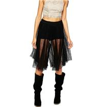 Sz 0 NEW Free People Women's Dressy Lacey Culottes Crop Pant/Skirt/Short Black