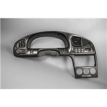 2003 Kia Spectra Dash Trim Bezel with Vents Dimmer Rear Defrost Hazard Switches