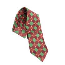 NWT Authentic Robert Talbott Red/Green Festive Holiday Check 100% Silk Neck Tie