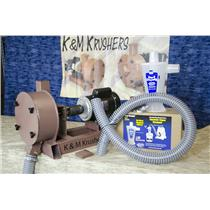 "11"" Rock Crusher Vacuum Attachment - 2"" Exit Port + Hose, Clamps & Dust Deputy"