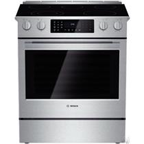 "BOSCH 800 HEI8054U 30"" 4.6 11 Modes Slide-in Smoothtop Electric Range"
