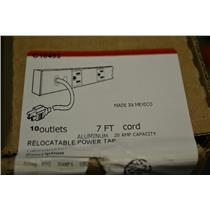*New in Box* Wiremold C10493, 10 Outlet, 7 ft. Cord, Power Strip, 120V, 20A