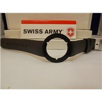 Swiss Army Watch Band 24075 Black Rubber Strap. Seaplane Chronograph model 24075
