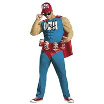 Disguise Mens Classic Muscle The Simpsons Duffman Plus Adult Costume XXL (50-52)