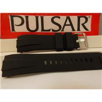 Pulsar Watch Band PS9277 Curved End Black Resin Strap. Watchband.