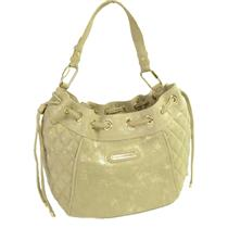 NWT AUTHENTIC Juicy Couture Soft Pacific Avenue Medium Hobo Gold Quilted Leather