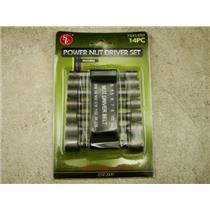 14 Piece Power Nut Driver Set, Rubber Belt Organizer, Tools, Repair, Hex Bits