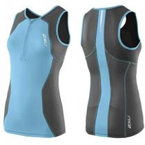 2XU Active Tri Singlet Women's Small Blue