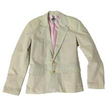 S NWT Same Wilson Karina Cream Light Summer 2 Button Front Lined Mens Blazer