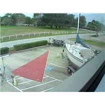 Boaters' Resale Shop of Tx 1511 0722.93 Tan Bark  Jib w 36-8 luff By Lam Sails