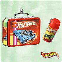 Hallmark Keepsake Ornament 2003 Hot Wheels Lunch Box Set of 2 Ornaments QXI8427