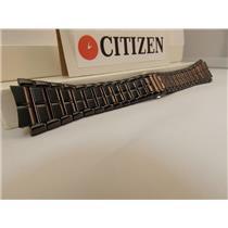 Citizen Watch Band E111-S049377 Black ION Steel Bracelet.Back Plate E111-S049377