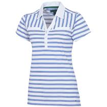 S NWT Tommy Hilfiger Golf Women's Blue/White Striped Polo Shirt TW353