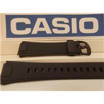 Casio Watch Band AQ-164 Black Resin Strap for Illuminator Digital/Analog Watch