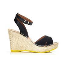 Lole Louisa High Heel Wedge Sandals Black 8