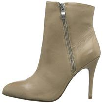 5.5 Chinese Laundry Kristin Cavallari Caylin Leather Heeled Ankle Bootie - Taupe