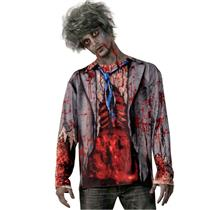 Forum Novelties Mens Realistic Walking Undead Zombie Costume Shirt One Size