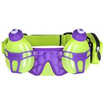FuelBelt H2o-helium 2 Bottle Hydration Belt Lagoon Green/Grape