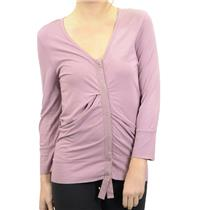 S NWT Tea & Honey Anthropologie Slouchy Cardigan Mauve V-Neck Snap Front Jersey