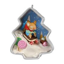 Hallmark Series Ornament 2012 Cookie Cutter Christmas #1 Mouse Sled QX8301-SDB