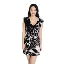 NEW Stillwater The Web Back Mini Dress Leopard Print Cross Straps Fitted Waist