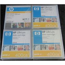 4 x New Sealed HP C7972A LTO2 Ultrium Data Cartridges 400GB