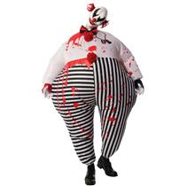 Inflatable Adult Evil Clown Battery Fan Operated Costume