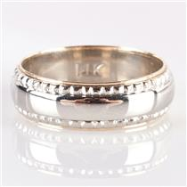 Men's 14k White & Yellow Gold Two-Tone Wedding / Anniversary Band 6.38g