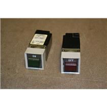 (Lot of 2, 1 Green, 1 Red) USED ALLEN-BRADLEY PUSHBUTTON SWITCH 800MS-X016, 110V