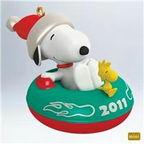Hallmark Miniature Series Ornament 2011 Winter Fun With Snoopy #14 - #QXM9117