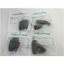 (4) NEW  Neutrik NC3MX-B 3-Pole XLR Male Cable Connector w/Black Metal Housing