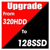 Hard Drive Upgrade 128GB SSD