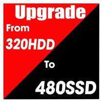 Hard Drive Upgrade 480GB SSD